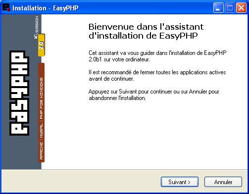 easyphp pour windows xp