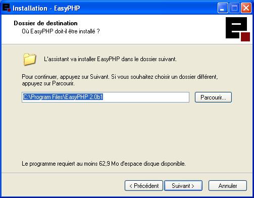 easyphp avec php4